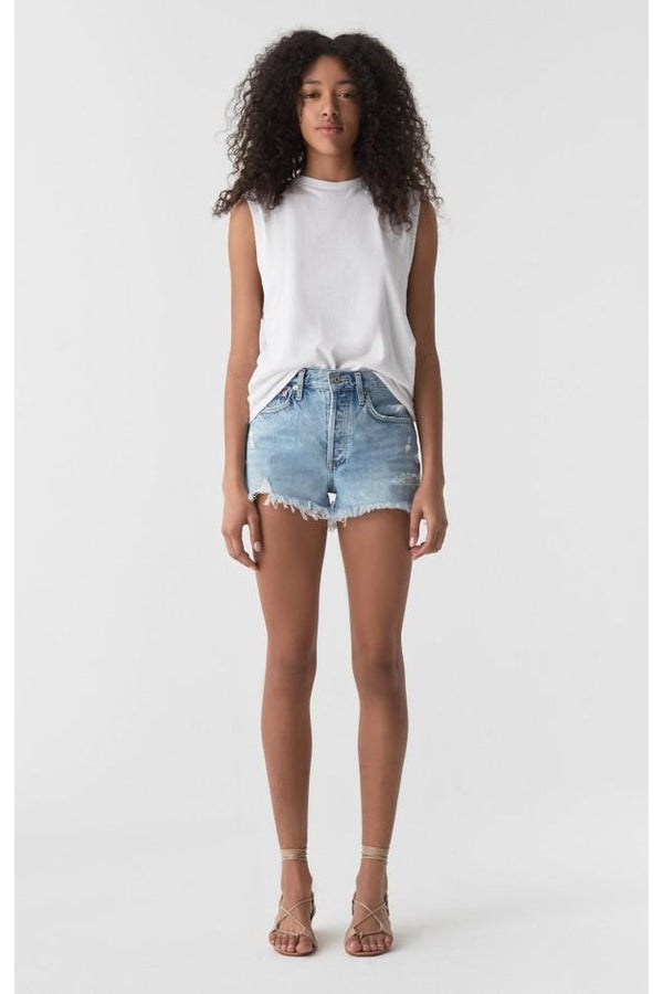 Load image into Gallery viewer, Parker Vintage Cut Off Shorts in Swapmeet - HEMLINE