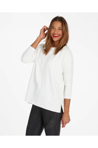 Dolman Sweatshirt in White