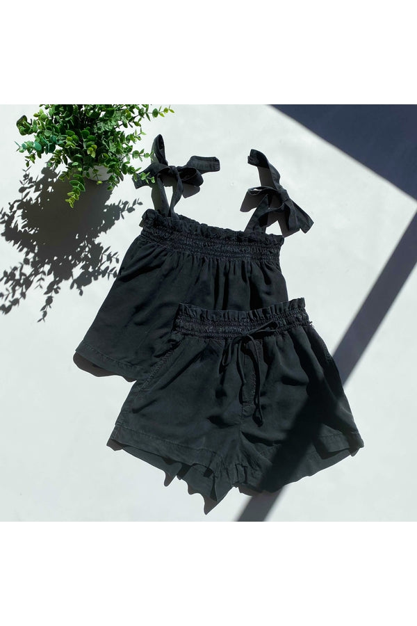 Hemline Exclusive Ruffle Waist Short