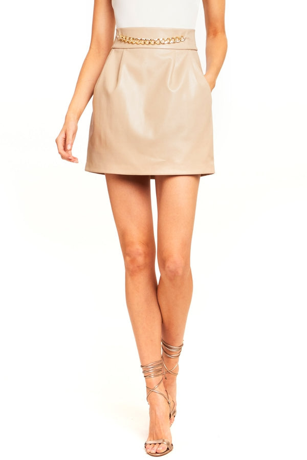 Callum Faux Leather Skirt