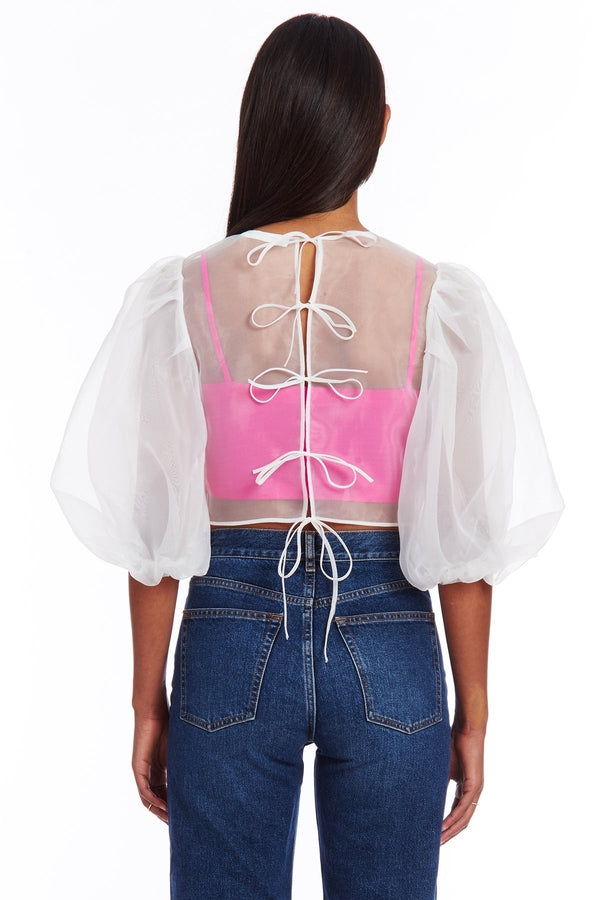 Diem Top in Pink and Ivory