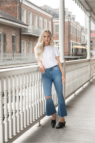 Hemline EXCLUSIVE Holly High Rise Crop Jeans - HEMLINE