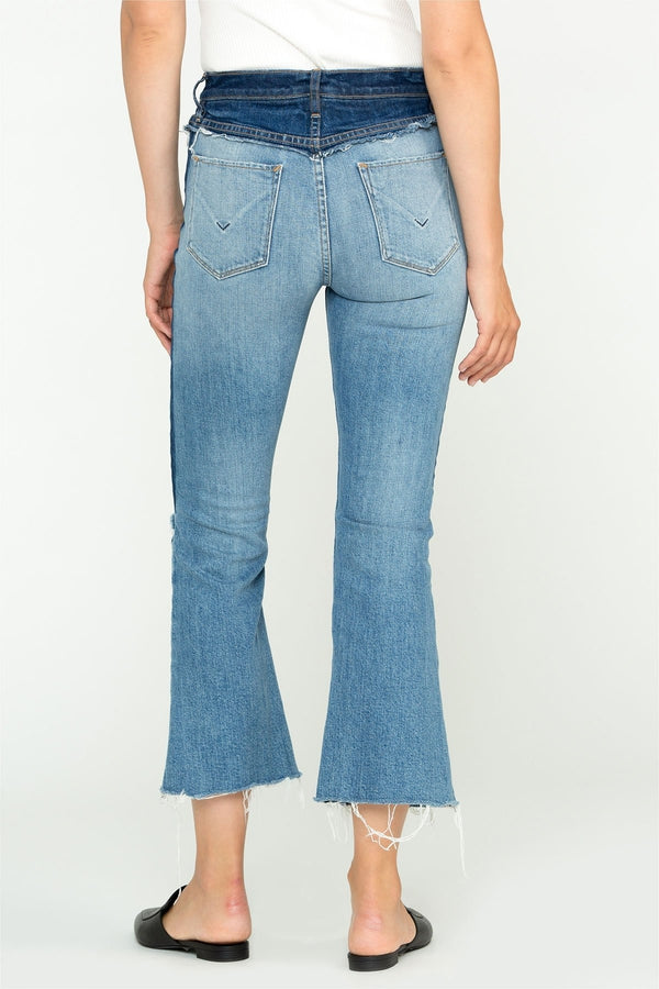Holly High-Rise Crop Flare Jeans - HEMLINE