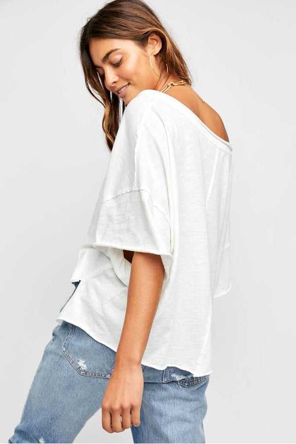 Cally Tee in Limestone
