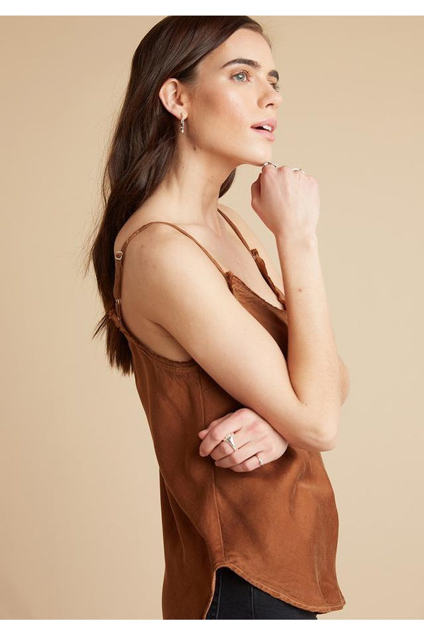 Frayed Edge Cami in Copper