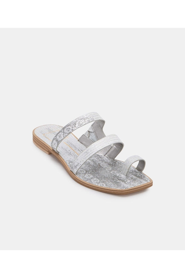 Isala Sandals in Embossed Lizard - HEMLINE