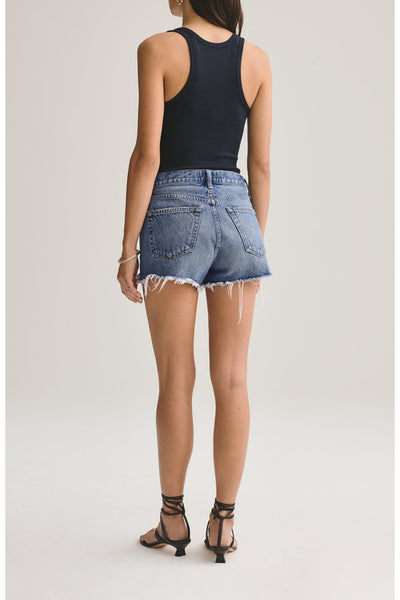 Parker Vintage Cut Off Shorts in Lowkey - HEMLINE