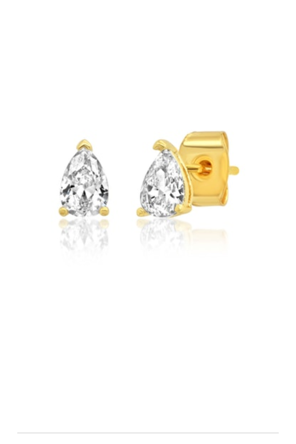 Pear Shaped CZ Studs