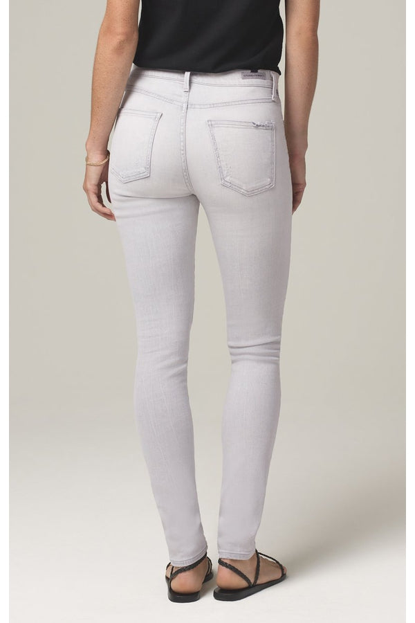 Rocket Crop Mid Rise Skinny in Marble Grey - HEMLINE