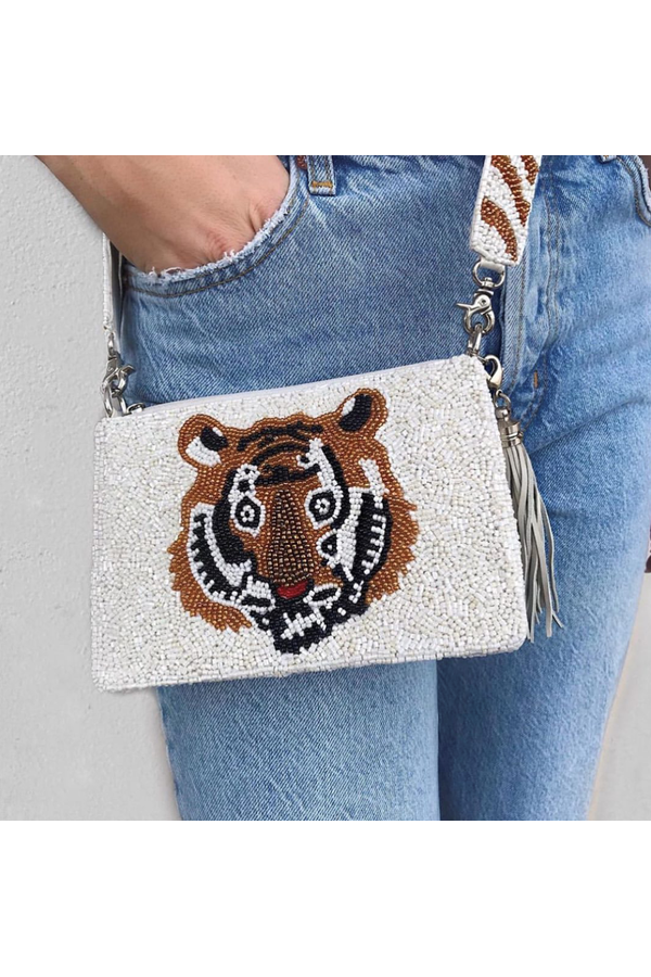 Load image into Gallery viewer, Hemline Exclusive Cross Body Tiger White - HEMLINE