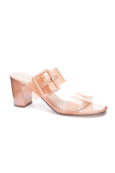 Yippy Clear Heel Sandals - HEMLINE