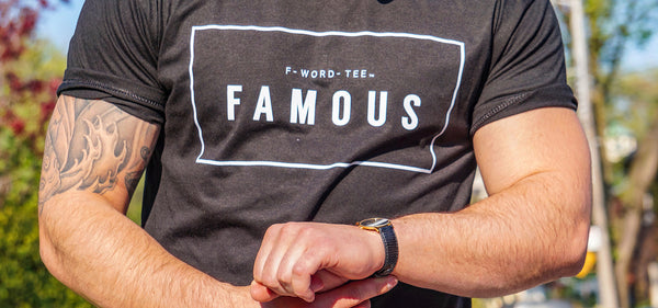 FAMOUS F-WORD-TEE Black T-Shirt