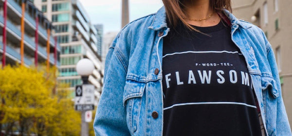 Flawsome F-Word-Tee Black T-Shirt