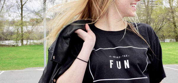 Fun F-Word Tee Black T-Shirt