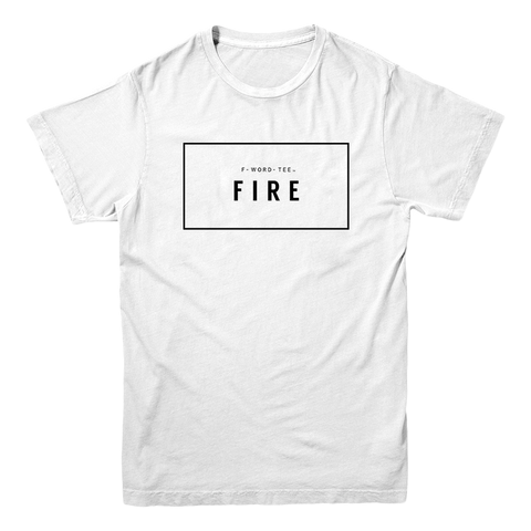 Five Faves FIRE F-WORD-TEE WHITE
