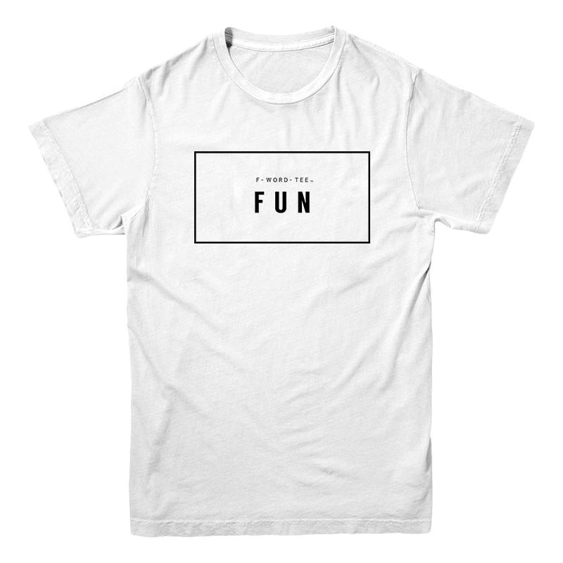 Five Faves FUN F-WORD-TEE WHITE