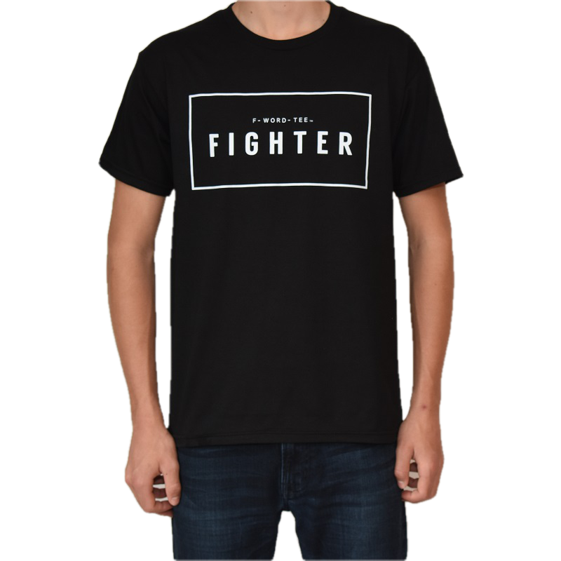 Five Faves FIGHTER F-WORD TEE BLACK
