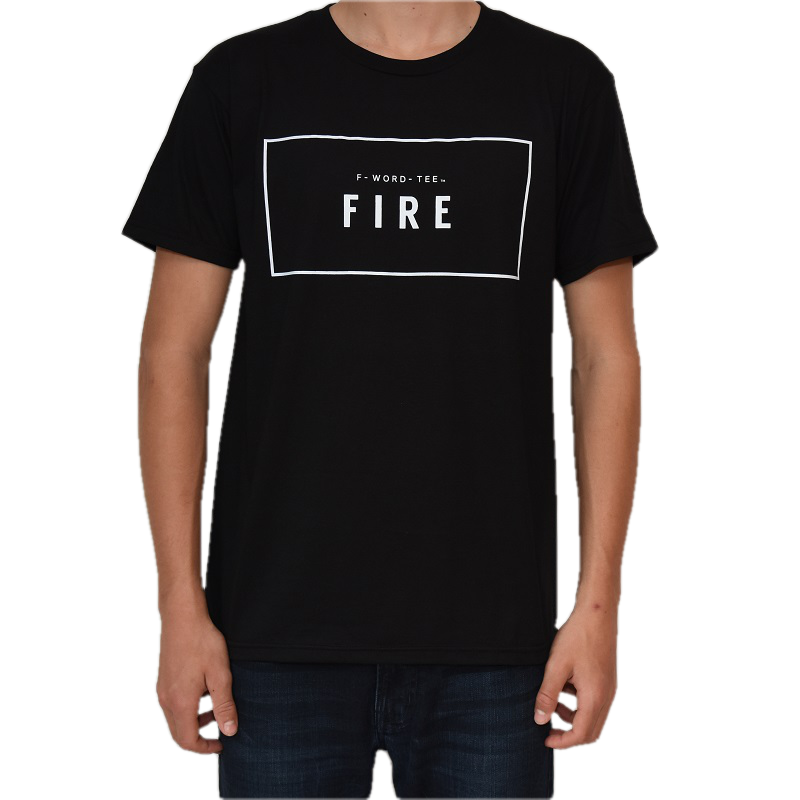 Five Faves FIRE F-WORD-TEE BLACK