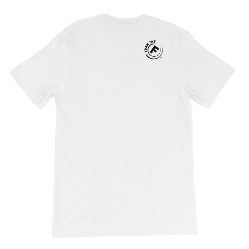 Five Faves FIGHTER F-WORD-TEE WHITE Back : Turn-The-F-Around
