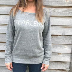 Five Faves F-Word-Tee Sweatshirt Fearless Grey Model M