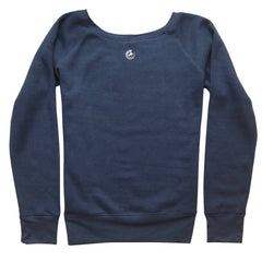 Five Faves F-Word-Tee Sweatshirt Fearless Navy Blue Back