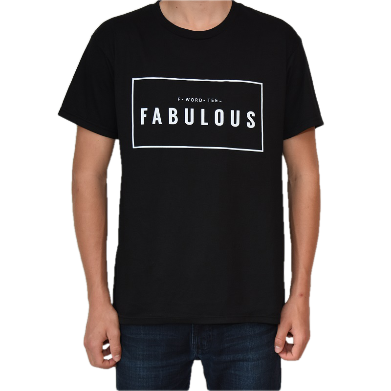 F-Word-Tee, FABULOUS, Black, Five Faves