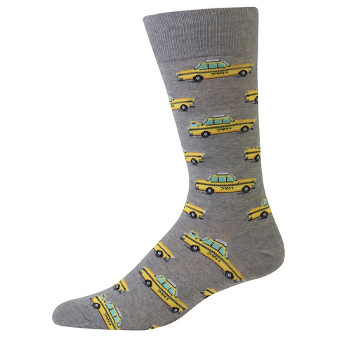 Taxi Cab Socks, Mens, Hot Sox