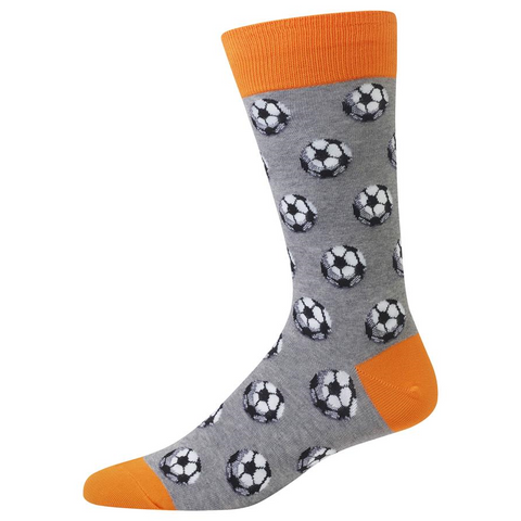 Soccer Ball Socks, Mens, Hot Sox