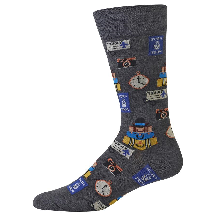 Travel Socks, Mens, Hot Sox