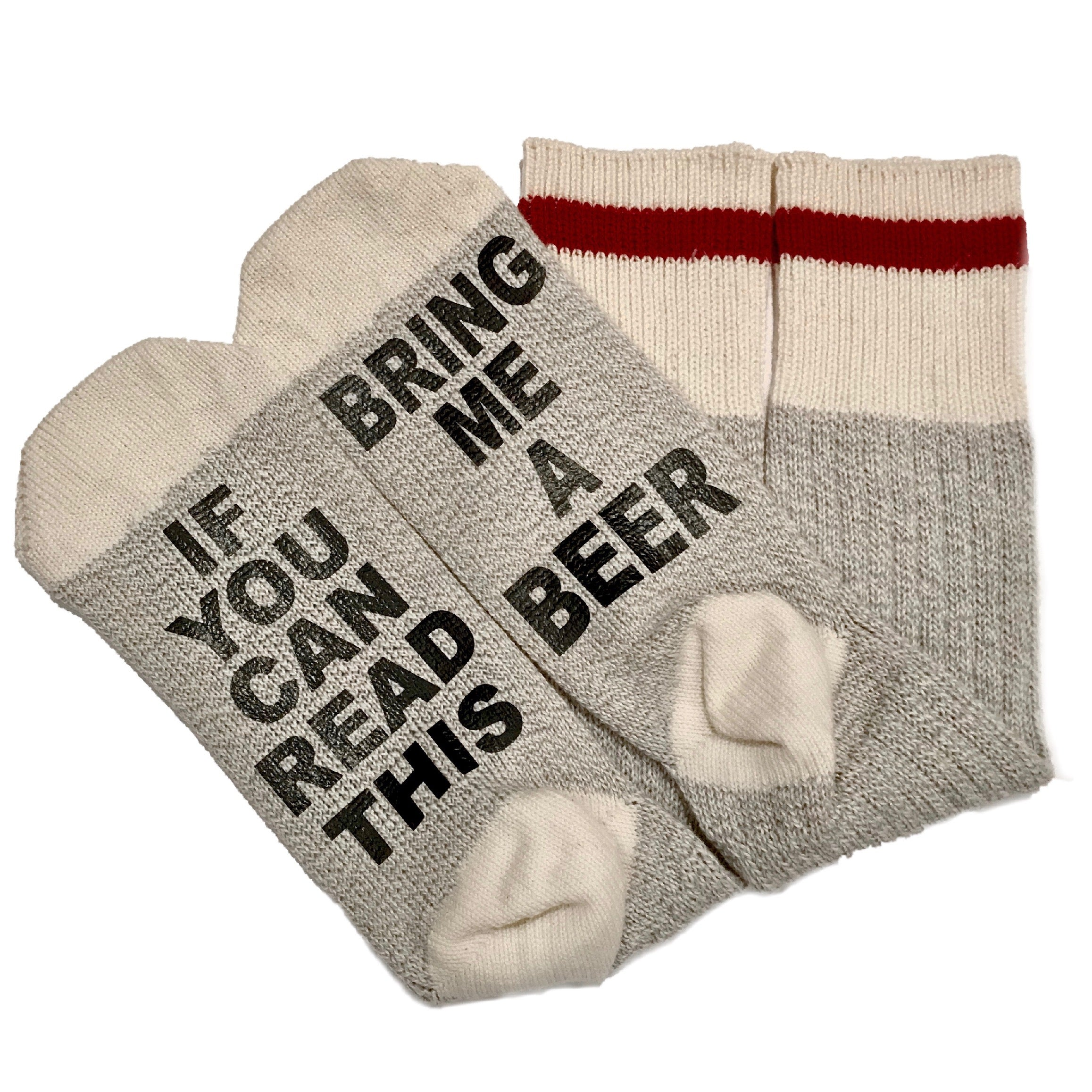 Talking Socks, If You Can Read This Bring Me A Beer