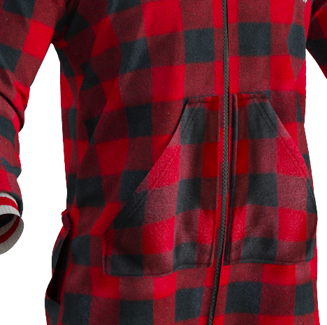 Pook Onesie, Adult, Red Plaid