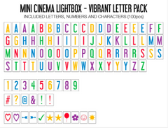 Lightbox Vibrant Letter Pack, Mini, My Cinema Lightbox