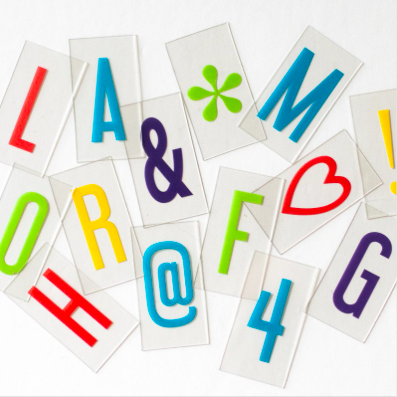 Lightbox Vibrant Letter Pack, Original / Vintage, My Cinema Lightbox