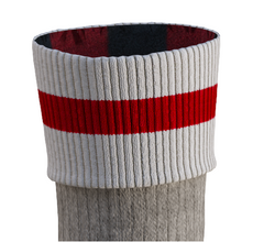 Wool Super Socks, Pook, Red / Grey