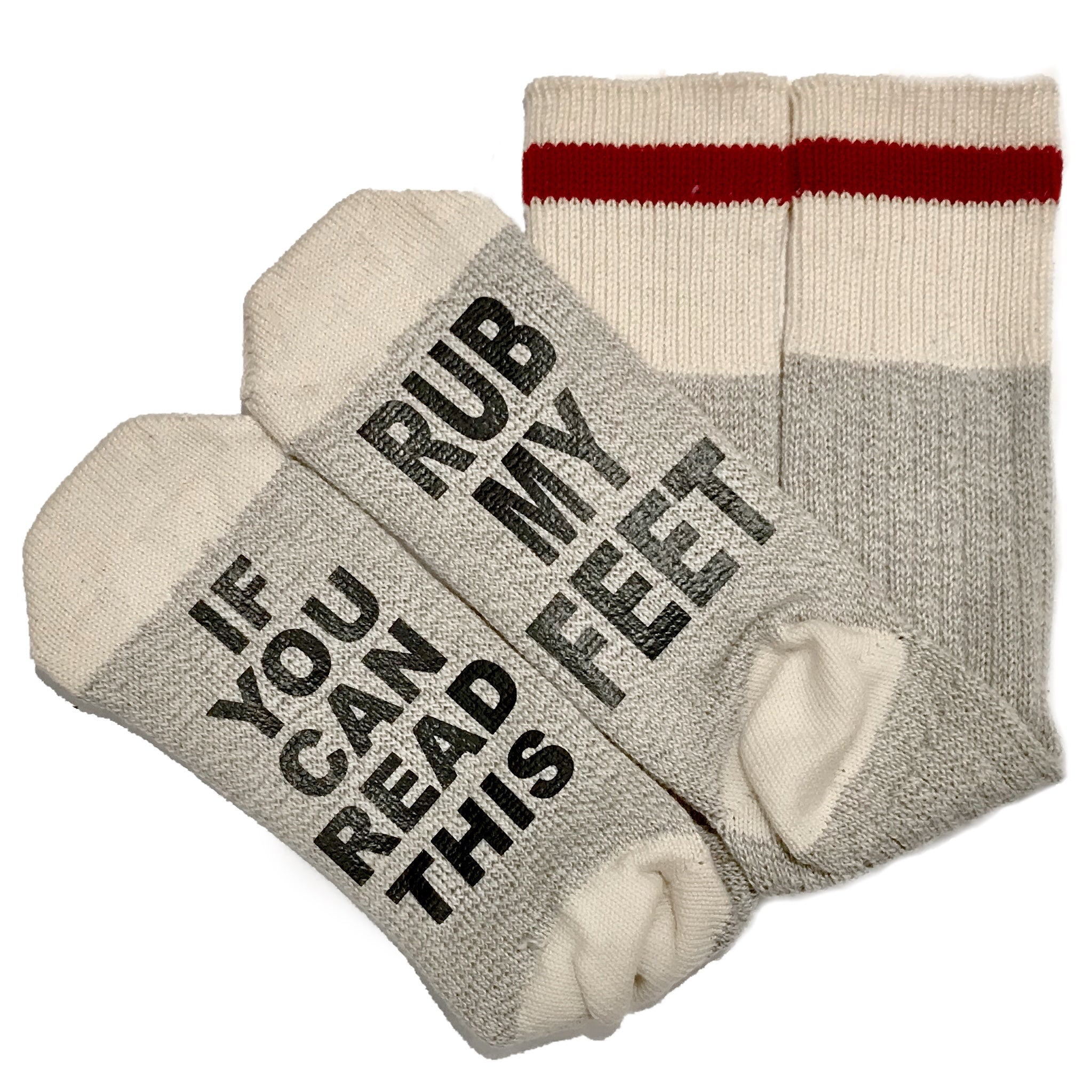 Talking Socks, If You Can Read This Rub My Feet