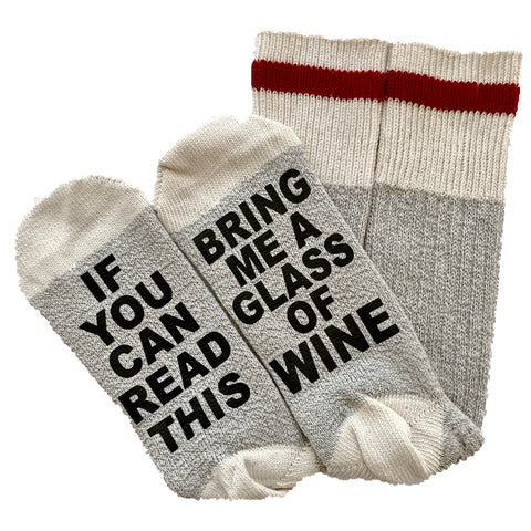 Talking Socks, If You Can Read This Bring Me A Glass Of Wine