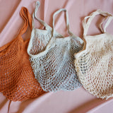 Handdyed net bag in solid colour