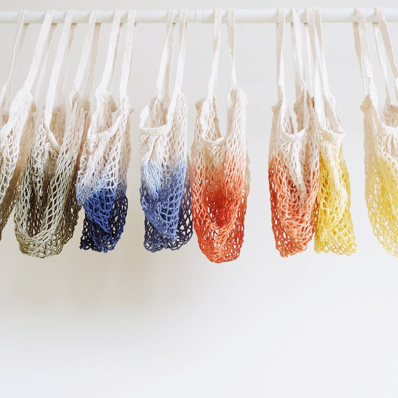 Hand dyed Ombre net bag
