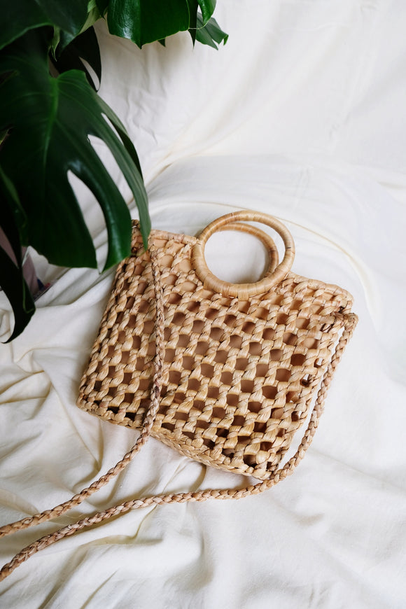EVELYN seagrass bag