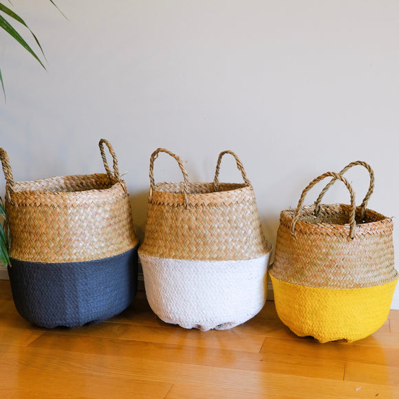 Hand painted Belly Basket