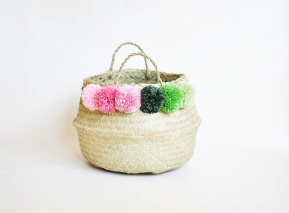 Pompom Belly Basket - Large Size