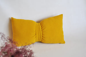 Mustard Bow Pillow