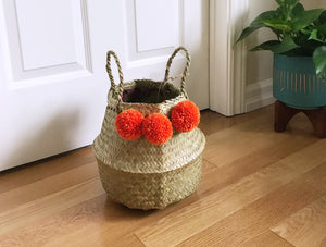 Candy Orange Belly Basket