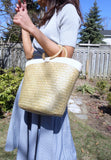 Seagrass Bag with White detail