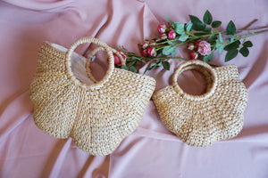 GLAM Handwoven straw bag