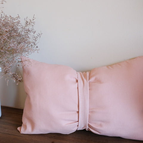 Dusty pink Bow Pillow