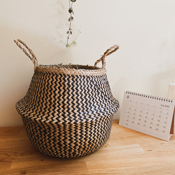 Black Zigzac Pattern Belly Basket