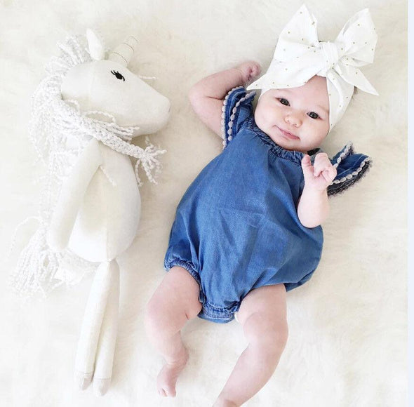 Baby Girl Denim Romper