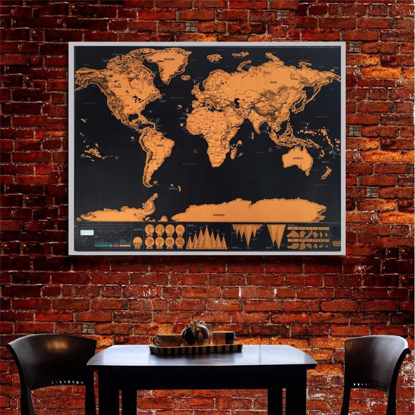 * Deluxe Scratch-Off World Map - 3PACK (75% OFF)