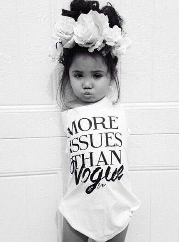 'More Issues Than Vogue' Baby Girls Fashion Shirt